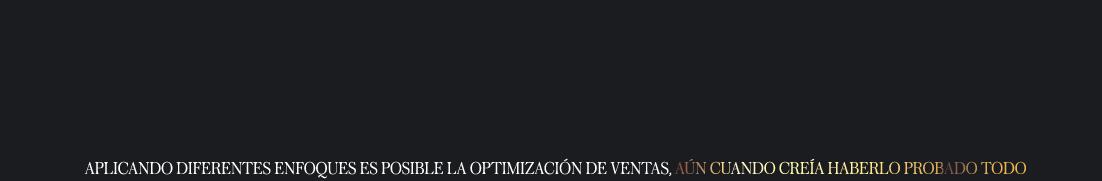 Optimización de ventas.