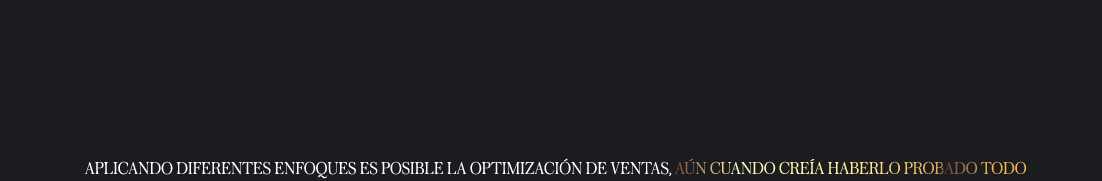 Optimización de ventas.